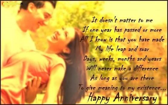 Happy Wedding Anniversary Emotional Quote
