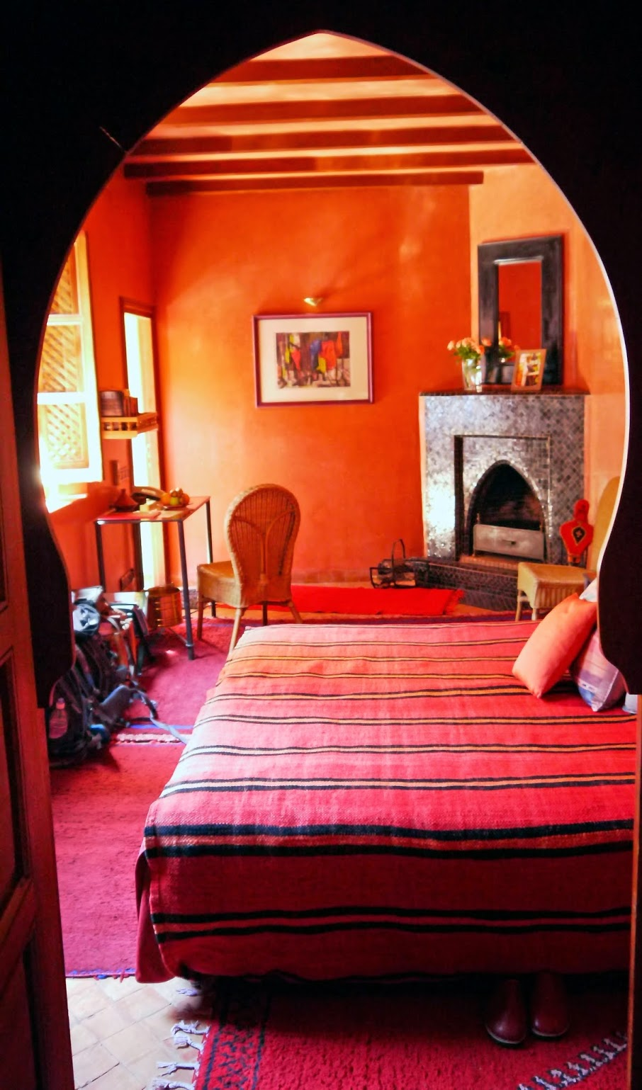 Riad Noga Red Room Marrakech Morocco