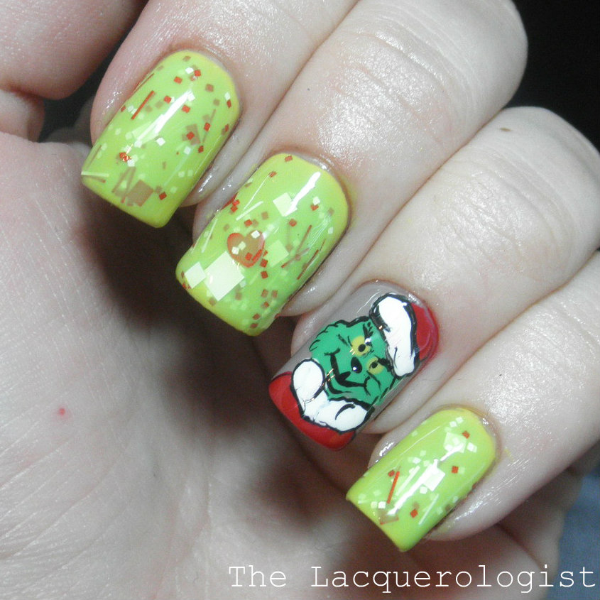 Jindie Nails Grinch And The Grinch Casual Contrast