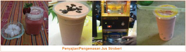 Penyajian-Pengemasan Jus Stroberi - Cara Membuat Jus Stroberi Enak dan Cara Penyajiannya