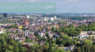 Vista de Wiesbaden desde el mirador