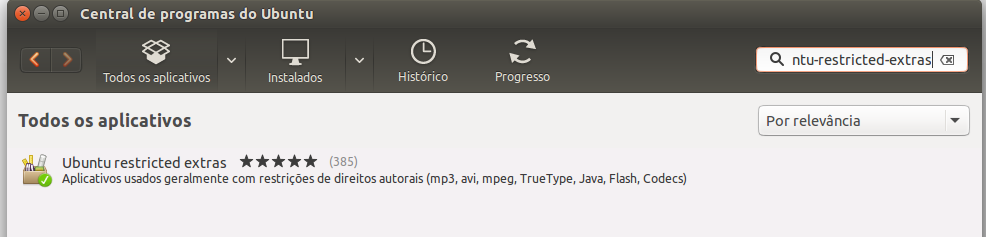 Codecs Multimídia no Ubuntu