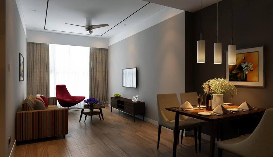 Phòng khách chung cư Marriott Đà Nẵng