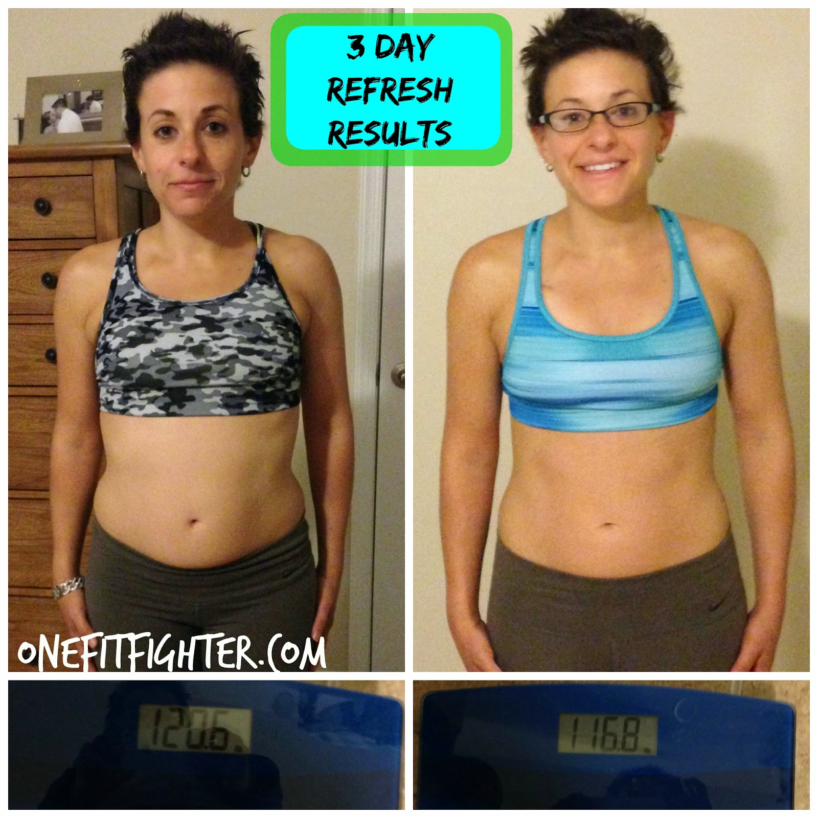 3 day refresh results, 3 day refresh, beachbody transformation