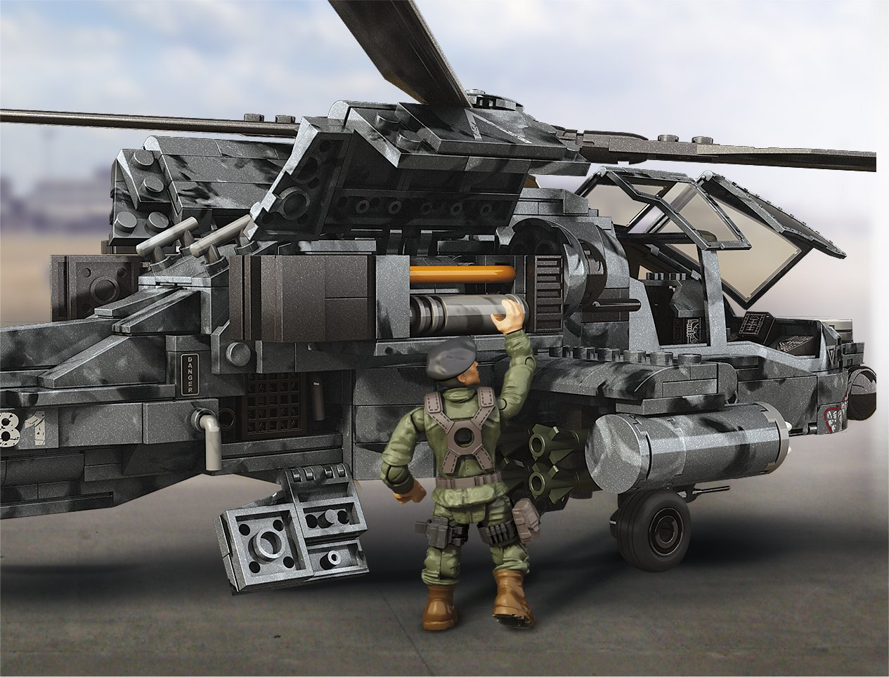 Mega Bloks Call Of Duty Anti Armor Helicopter Collector Construction Set