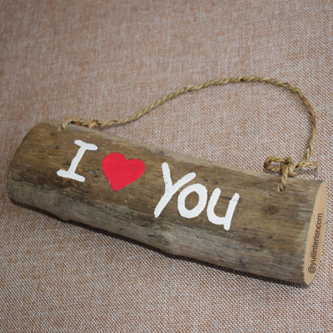 I love You Wood Sign