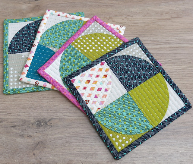 Luna Lovequilts - Quilted coasters