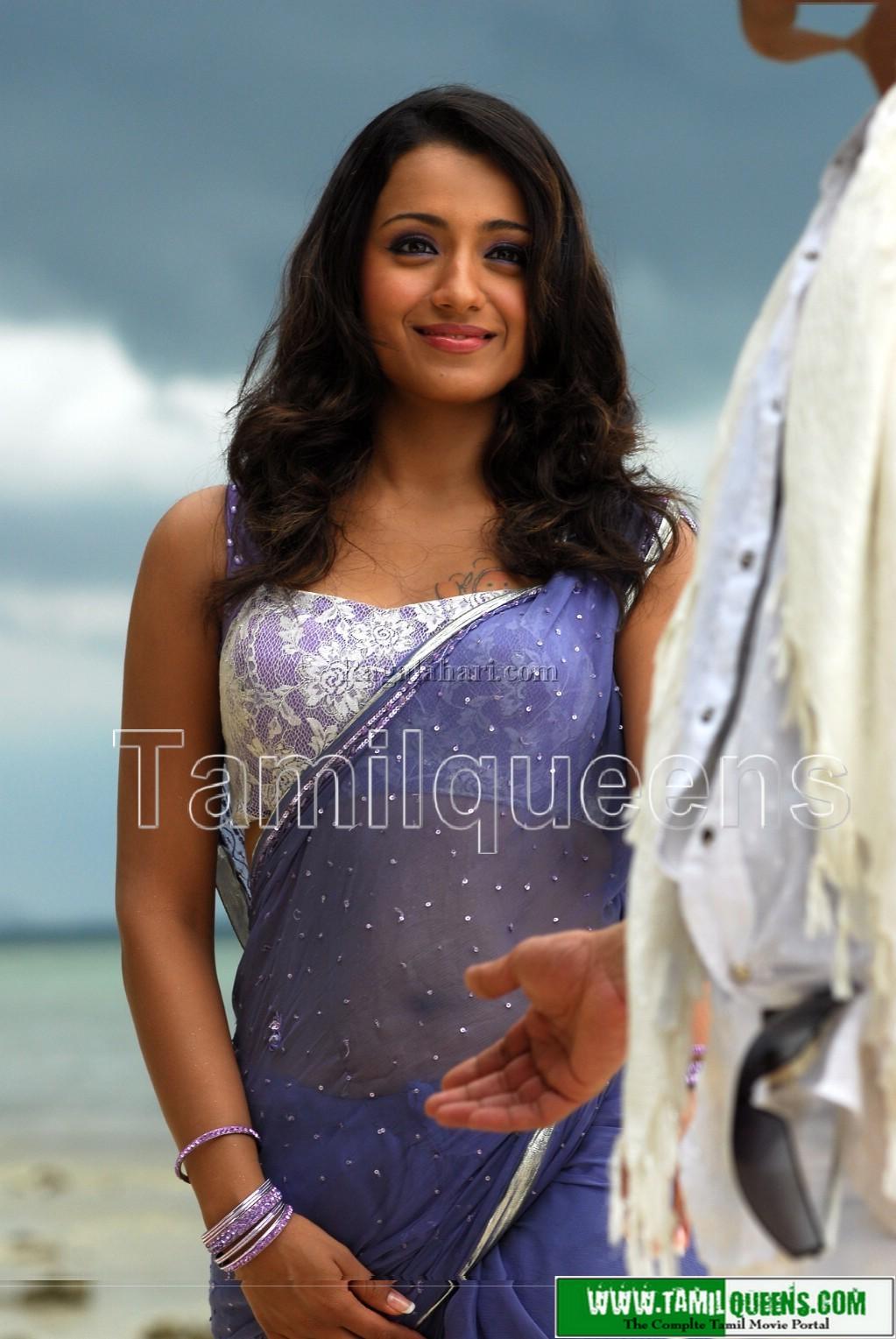 Trisha Hot Stills In Saree  Movieadda-4650
