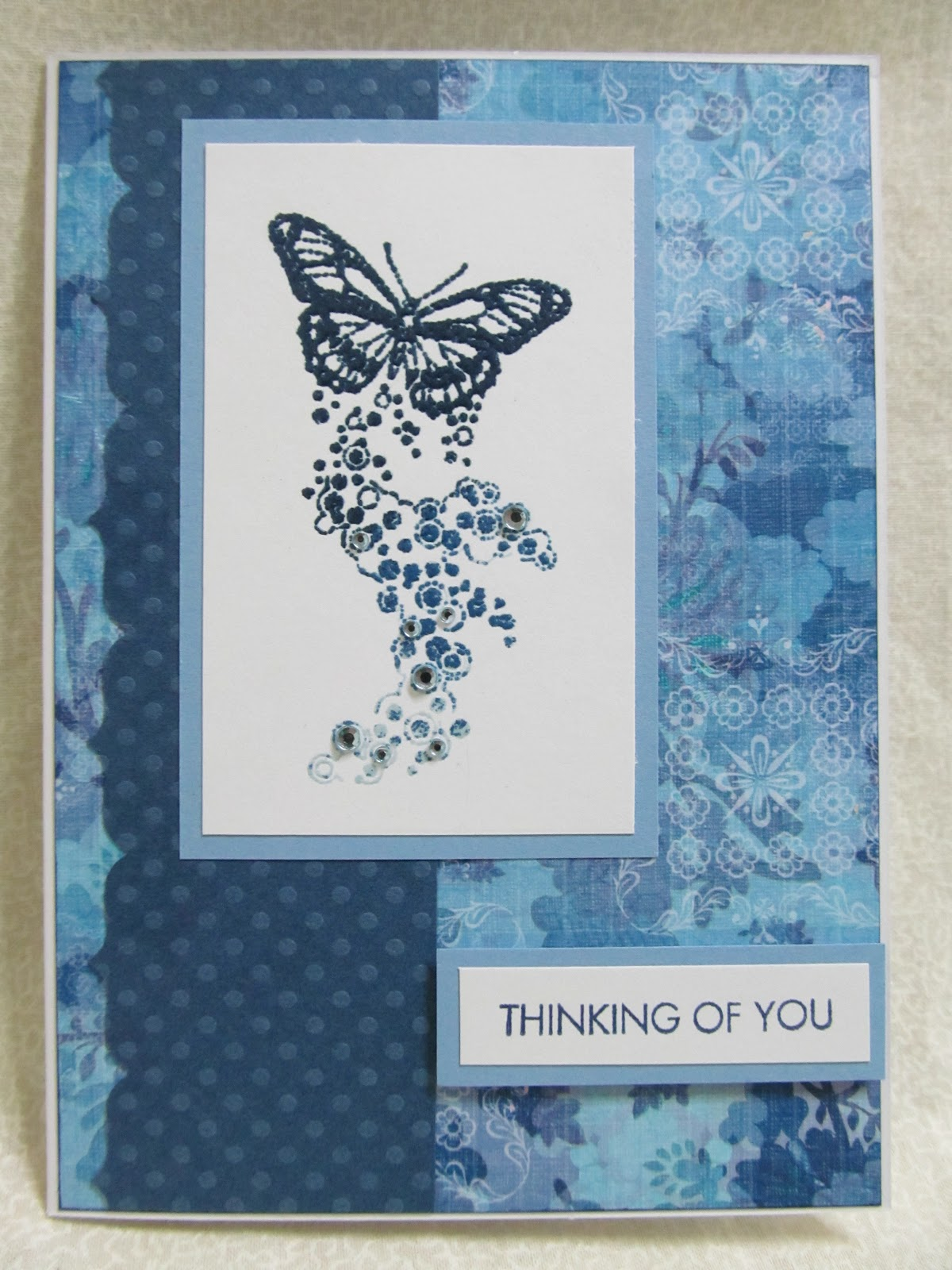 savvy handmade cards heat embossed butterfly card