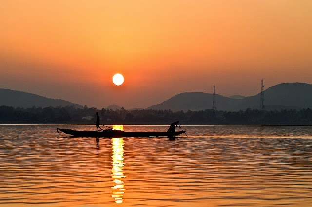 Sunrise View of Chilika Lake, Orissa