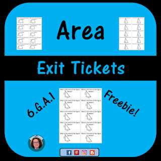 Area Exit Tickets Sample Pack