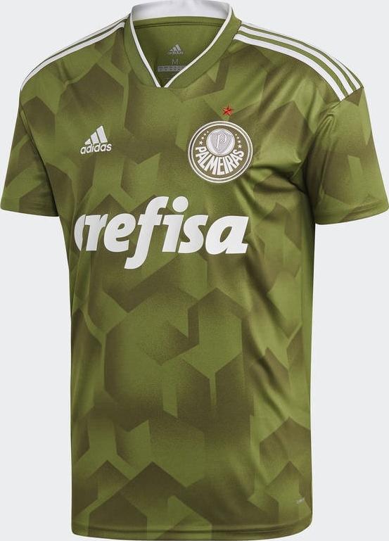 85c7059fc7 A Adidas apresentou o novo terceiro uniforme que o Palmeiras usará na Série  A do Campeonato Brasileiro e na Copa Libertadores em 2018.