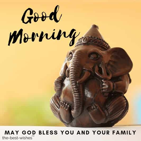 good morning images god ganesha