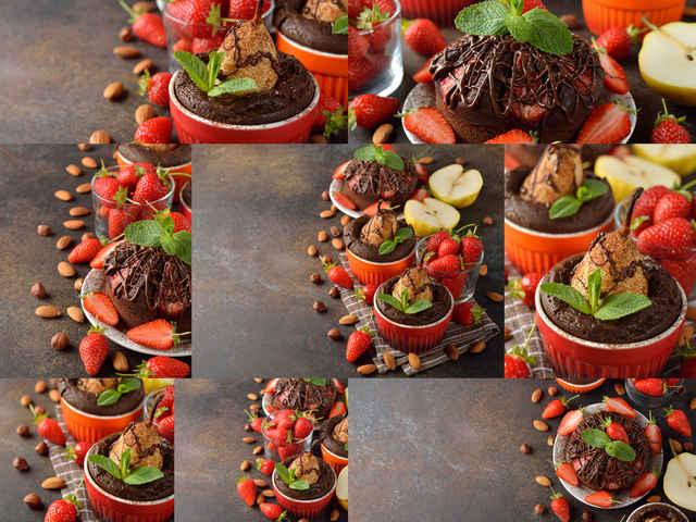 تحميل 8 صور لخبز الكمثري في الشوكولاته بجودة عالية