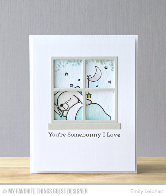 Handmade card from Emily Leiphart featuring Somebunny I Love stamp set and Window Die-namics #mftstamps