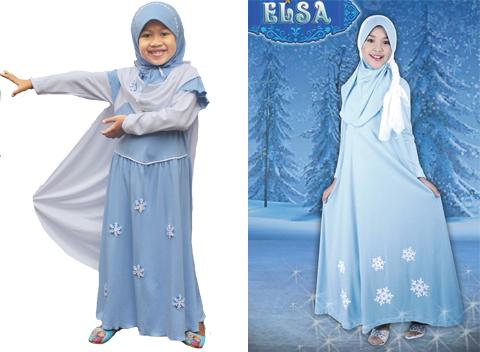 Baju Gamis Frozen Anak Model Baju Gamis Anak Frozen