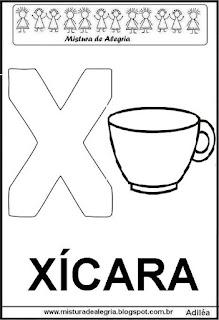 Alfabeto cartaz letra X