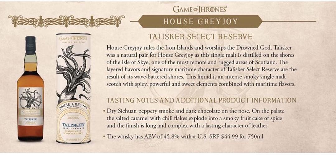 House Greyjoy - Talisker Select Reserve