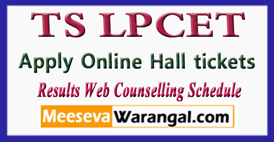 Telangana TS LPCET Notification 2018 Apply Online Hall tickets Results