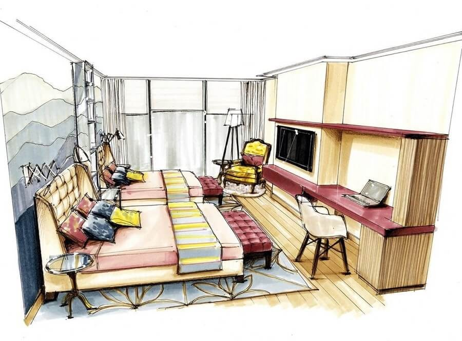 13-Two-Double-Beds-A-Brindis-Interior-Design-Drawings-and-a-Video-www-designstack-co
