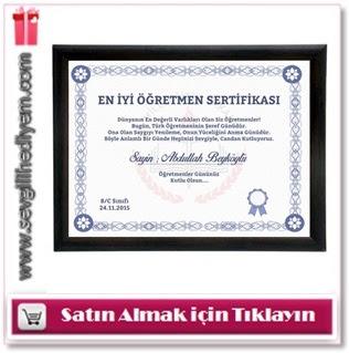 öğretmen sertifikası