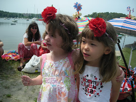 little girls at July 4th parade
