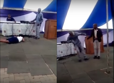 Another SA pastor commands church members to touch live wires and get drunk through anointed water (Photos & Video)