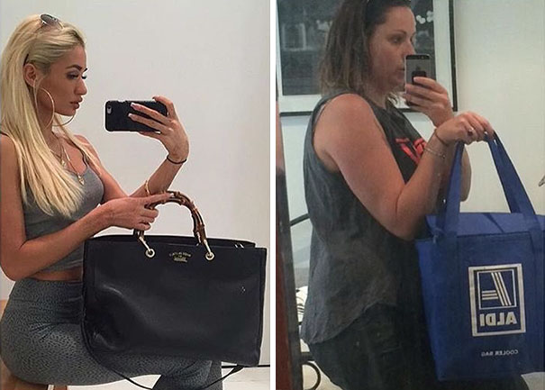Woman Hilariously Recreates Celebrity Instagram Photos (Part 2) - Hitting The Shops Hard