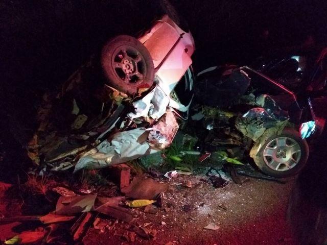 Trágico e Brutal! Acidente violento entre dois veículos mat tr na BR 364 em Vilhena
