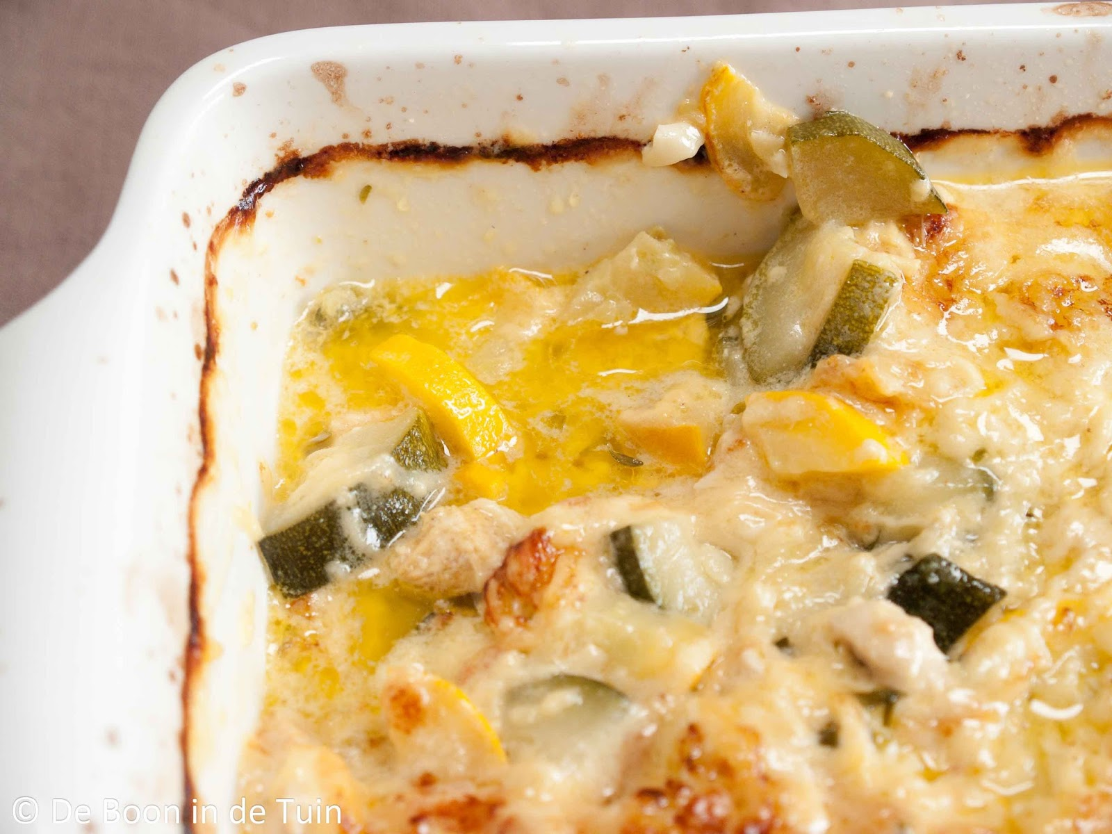 recept courgette courgettes kip witte wijn