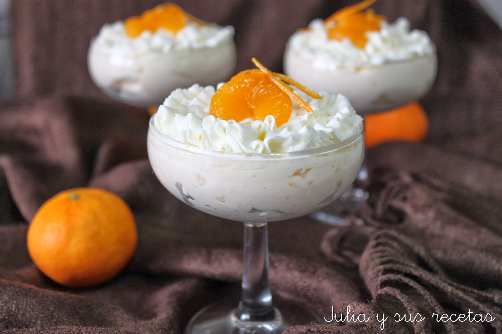 Mousse de mandarina. Julia y sus recetas