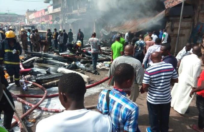 Fire Guts Kumasi Central Market
