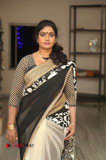 Telugu Actress Jayavani Jayavani Stills in Black Saree at Intlo Deyyam Nakem Bhayam Success Meet  0017.JPG