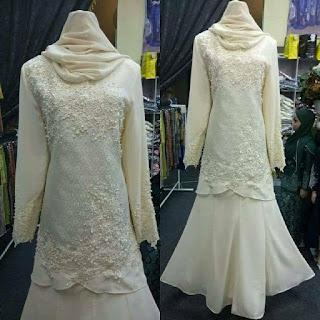baju songket pengantin terkini