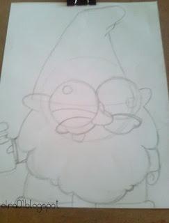 boceto de Shmebulock personaje de Gravity Falls