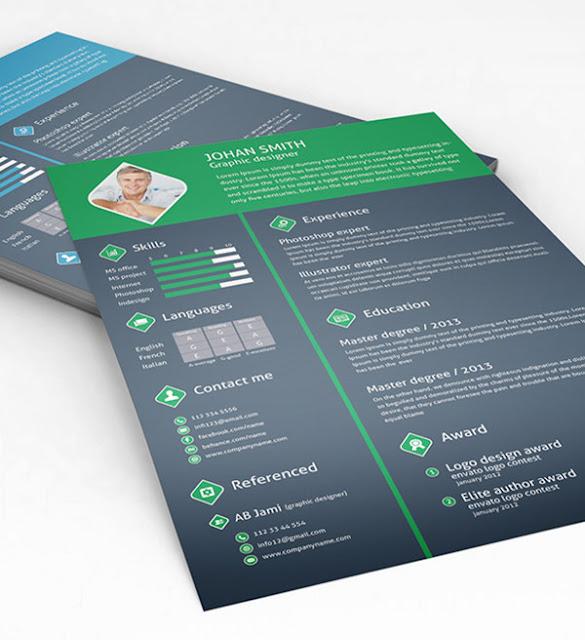 Download kumpulan CV Template PSD dan AI Gratis  Download kumpulan CV Template PSD, AI dan Id Gratis
