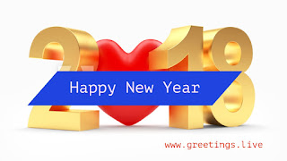 Creative 3D Greeting for Lovers on new year festival