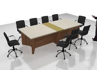 Produksi Meja Rapat Dengan Konektivitas LAN dan Listrik