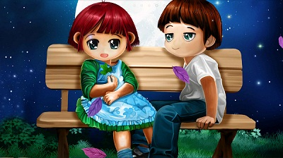 Cute Cartoon Couple Love Images for Facebook
