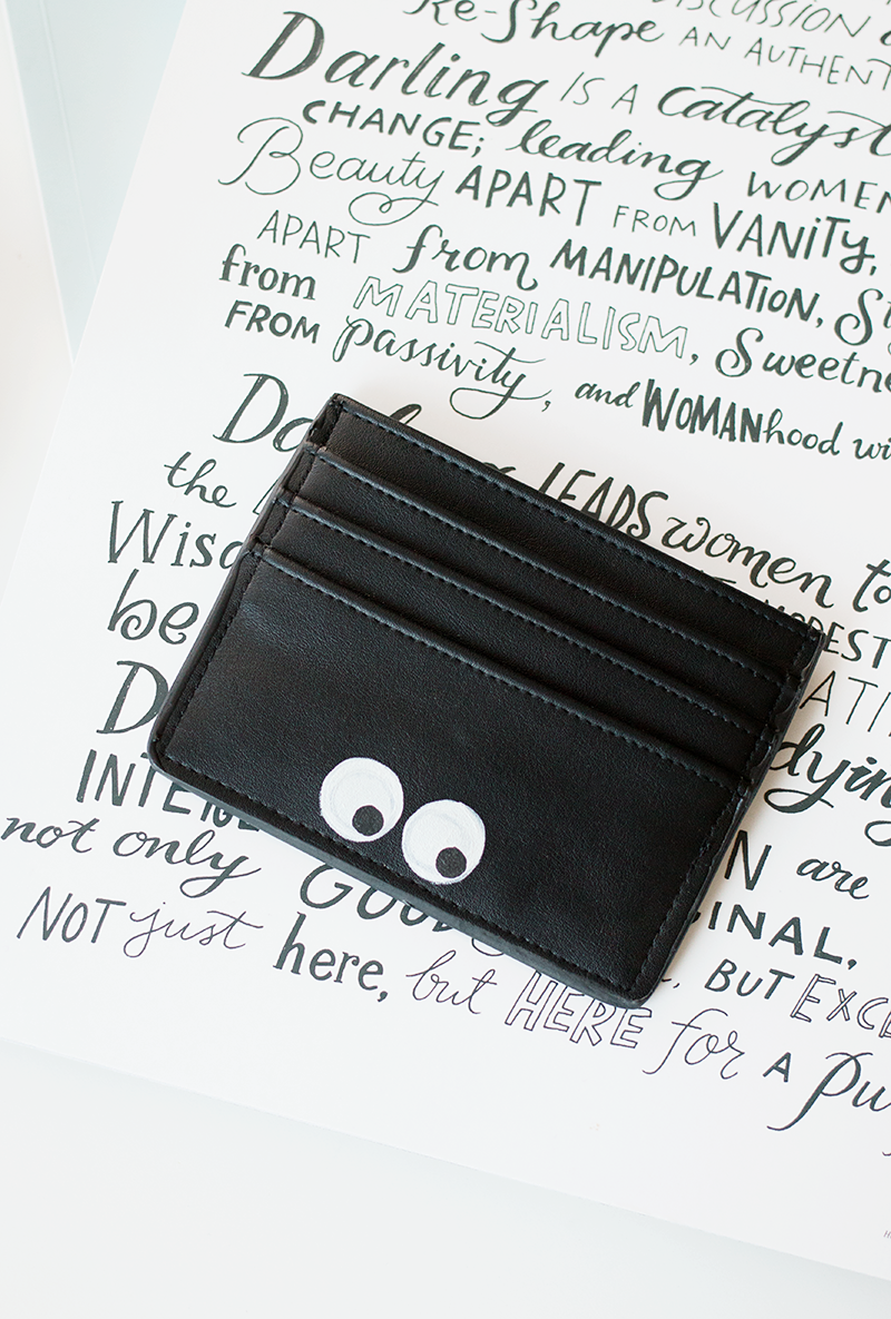 Make your own Anya Hindmarch eyes card holder