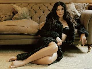 Monica Bellucci Hot In Black Dress