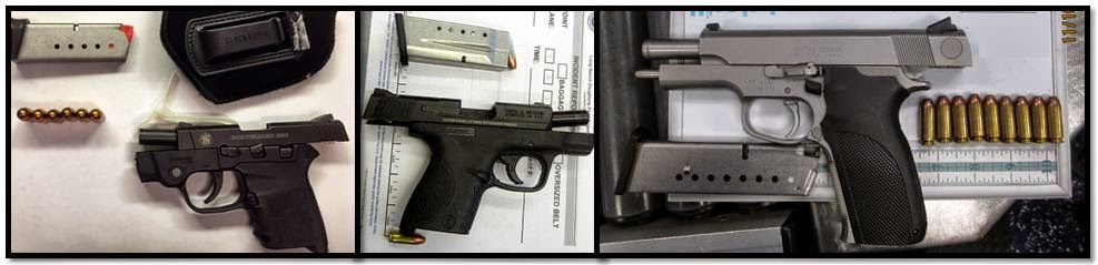 (Left - Right) Firearms Discovered At: BNA, LGB & FLL