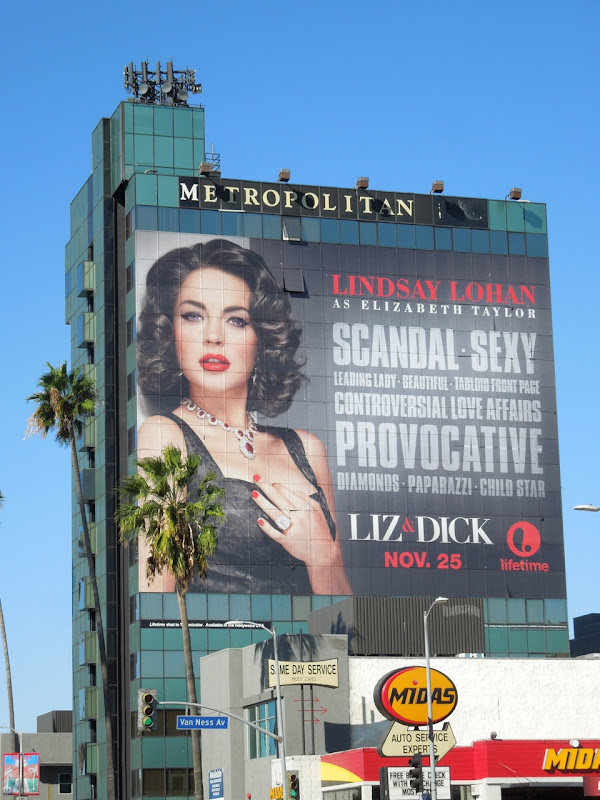 Giant Liz Dick Lifetime billboard Hollywood