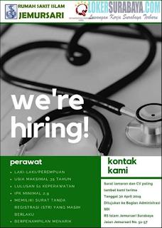 We Are Hiring RS Islam Jemursari Surabaya April 2019
