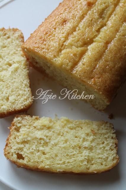 Kek Oren Lembap Yang Mudah