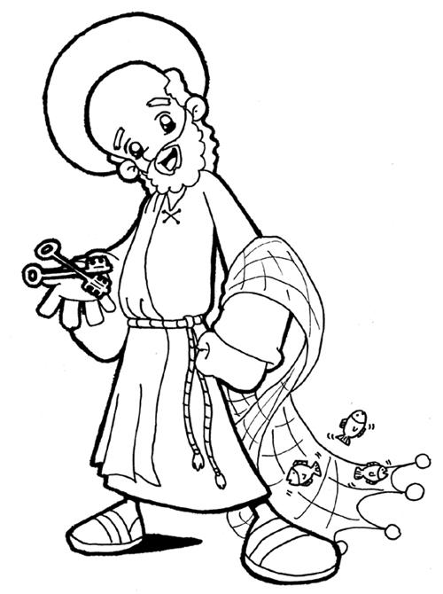 Dibujos para catequesis: SAN PEDRO