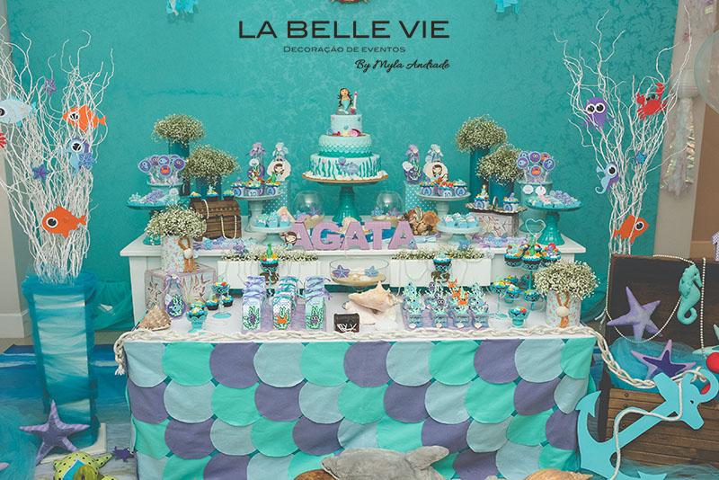 La Belle Vie Eventos Decoração Pequena Sereia Festa Da ágata