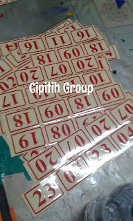 Cutting Sticker, Sticker Murah, Sticker Angka, Sticker Nomor, Sticker Huruf