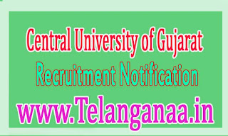 CUG (Central University of Gujarat) Recruitment Notification 2016