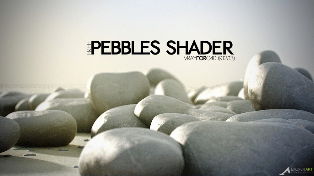 Free vray for C4D Scene and Pebble Shader by Exorbit Art